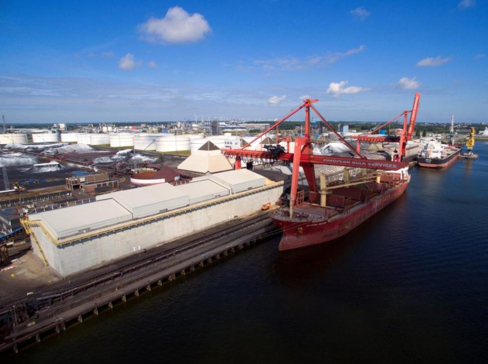 Nieuwe multifunctionele loods voor bulkterminal for Ebs rotterdam