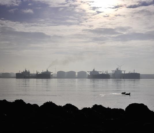 Diepliggende olietankers