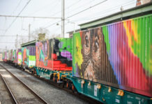 Kleurrijke trein