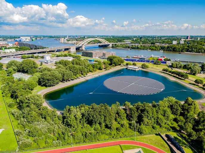 Drijvend zonnepark