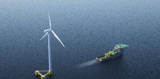 Drijvende windturbines
